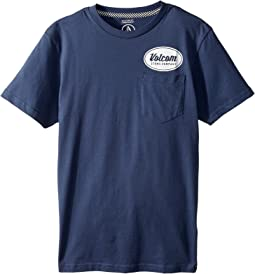 Volcom Kids - Foundry Short Sleeve Pocket Tee (Big Kids)