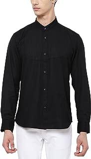 SVANIK Black Solid Cotton Shirt.