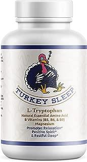 Turkey Sleep - Tryptophan Sleep Aid with B Vitamins and Magnesium for Healthy Deep Sleep - Anti-Anxiety, Calm Mood, Restful Sleep - Vitamins B5, B6, B9 Folic Acid - Boosts Serotonin and Melatonin