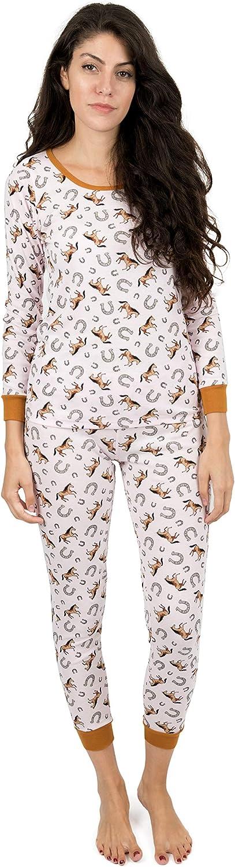 Leveret Womens Pajamas Horse 2 Piece Pajama Set 100% Cotton Size Small