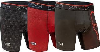 Spyder and Marvel Men's Boxer Briefs Performance Sports Underwear 3 Pack