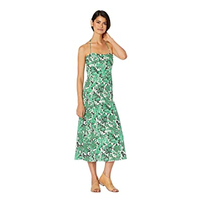 Free People Beach Party Midi Dress (Green Combo) Women