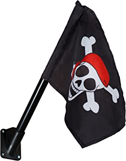 Gorilla Playsets Pirate Flag Swing Set Accessory with Mounting Hardware, Black