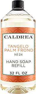 Caldrea Hand Soap Refill, Aloe Vera Gel, Olive Oil and Essential Oils to Cleanse and Condition, Tangelo Palm Frond Scent, 32 oz