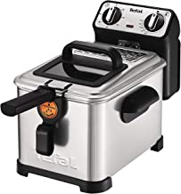 Tefal FR5101 Friteuse Filtra Pro Inox and Design, Timer, warmte-isolerend, Clean-Oil-systeem, 2300 W, roestvrij staal/zwar...