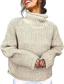 Best crop top knit sweater turtleneck Reviews