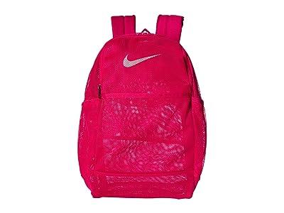 Nike Brasilia Mesh Backpack 9.0 (Rush Pink/Rush Pink/White) Backpack Bags