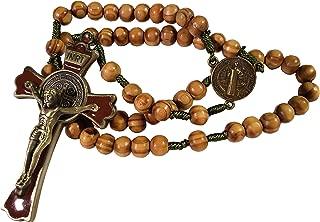 Saint Benedict Wood-Cord Rosary