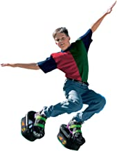 Big Time Toys Moon Shoes Bouncy Shoes - Mini Trampolines For your Feet - One Size, Black, New and improved