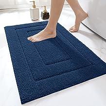 DEXI Bathroom Rugs, 32x20, Non-Slip Absorbent Premium Bath Mat, Machine Wash Dry, Comfortable Carpet for Bath Room, Navy