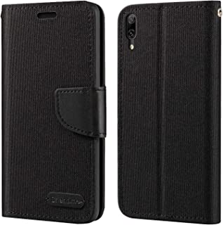 Huawei Enjoy 9 Case, Oxford Leather Wallet Case with Soft TPU Back Cover Magnet Flip Case for Huawei Y7 Pro 2019