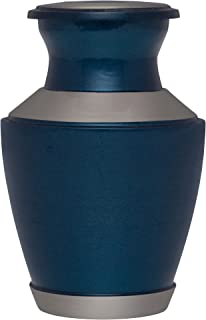 Mini Keepsake Urn • Miniature Funeral Cremation Urn fits Small Amount of Ashes • Ocean Blue Model • 3 inches Tall