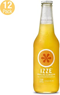 IZZE Sparkling Juice, Clementine, 12 oz Glass Bottles, 12 Count