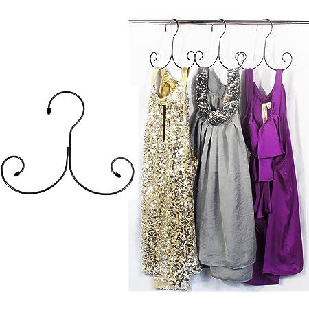 Abrigos Elegantes Perchas de Acero Inoxidable para Camisetas Su/éteres Vestidos TriEco 10 Piezas 42cm Metal Perchas Ropa Chaquetas