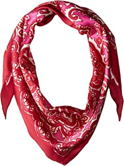 Ornate Paisley Silk Diamond Scarf