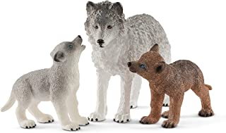 Schleich Mother Wolf With Pups Playset, Multi-Colour