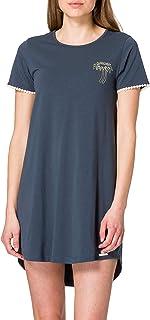 Skiny Women's Damen Sleepshirt Kurzarm Nightgown