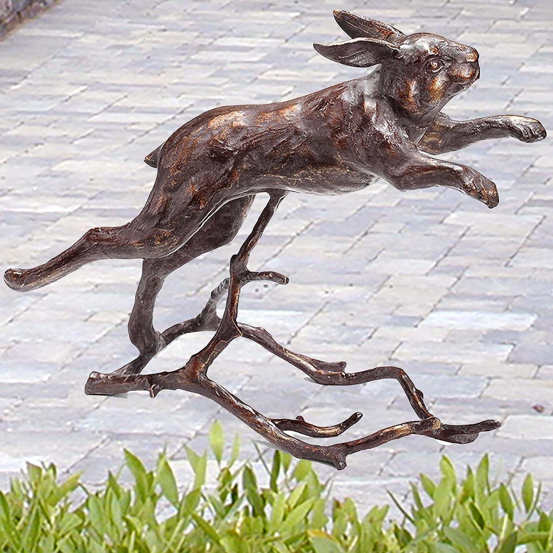 Choice Running Bunny Garden Sculpture Rabbit trend rank Statue Metal Outdoor