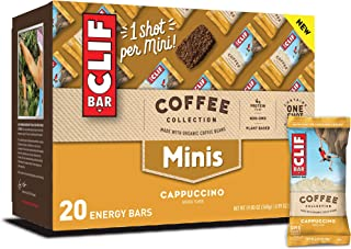 CLIF BARS Minis with 1 Shot of Espresso - Energy Bars - Cappuccino Flavor - 65 mgs of Caffeine Per Bar - Made with Organic...