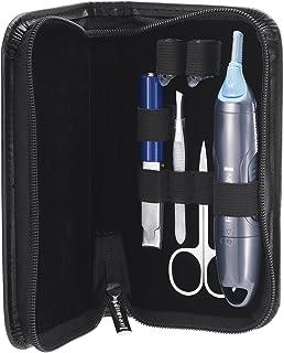 Remington NE3455 Nano Series Groom Essentials - Recortador facial con tijeras, lima y pinzas, color plata