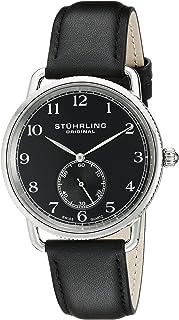 Men's 207.02 Classic Cuvette Swiss Quartz Black Leather Strap Watch