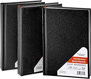 Artlicious - 3 Hardcover Sketch Books, Drawing Pads, Hardbound Value Pack - 4 inch x 6 inch - 660 Pages Total