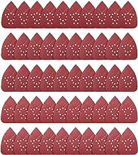 Mouse Sandpaper Mouse Sander Pads 50 PCS Mouse Detail Sander Sandpaper 60/80/120/150/220 Grits Palm Sander Sandpaper 12 Hole Mouse Sander Sandpaper SATC