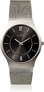 Skagen Men's Grey Dial Stainless Steel Band Watch - 233XLTTM