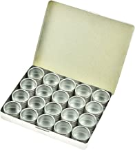 "SE 1-1/4"" Silver Aluminum Storage Container Set (20 PC.) - 870DB-M"