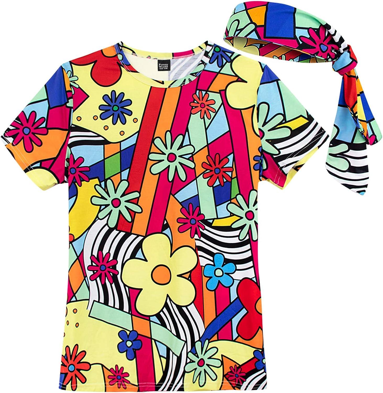 60s Costumes: Hippie, Go Go Dancer, Flower Child, Mod Style Womens Groovy Hippie Costume T-Shirts  AT vintagedancer.com