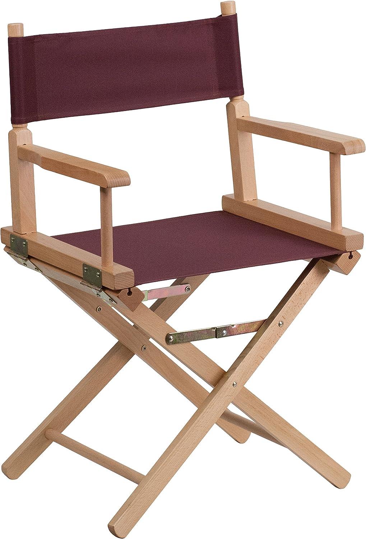 Flash Furniture Standard Height Directors Chair, Brown