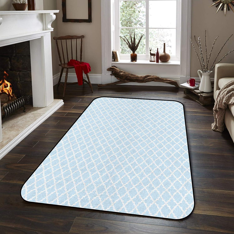 Fantasy Very popular Star Non-Slip Area Rugs Mat- Rhombus Geometric Room Popular standard Blue