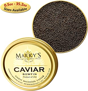 Marky's Premium Bowfin American Black Caviar - 5.5 oz - Malossol Bowfin Black Roe - GUARANTEED OVERNIGHT