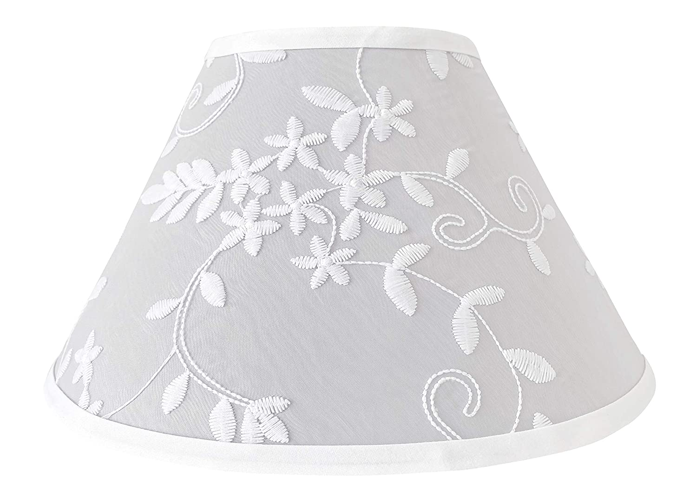 Sweet Jojo Designs shopping Grey Floral Vintage Shade L - Lamp Solid Under blast sales Lace
