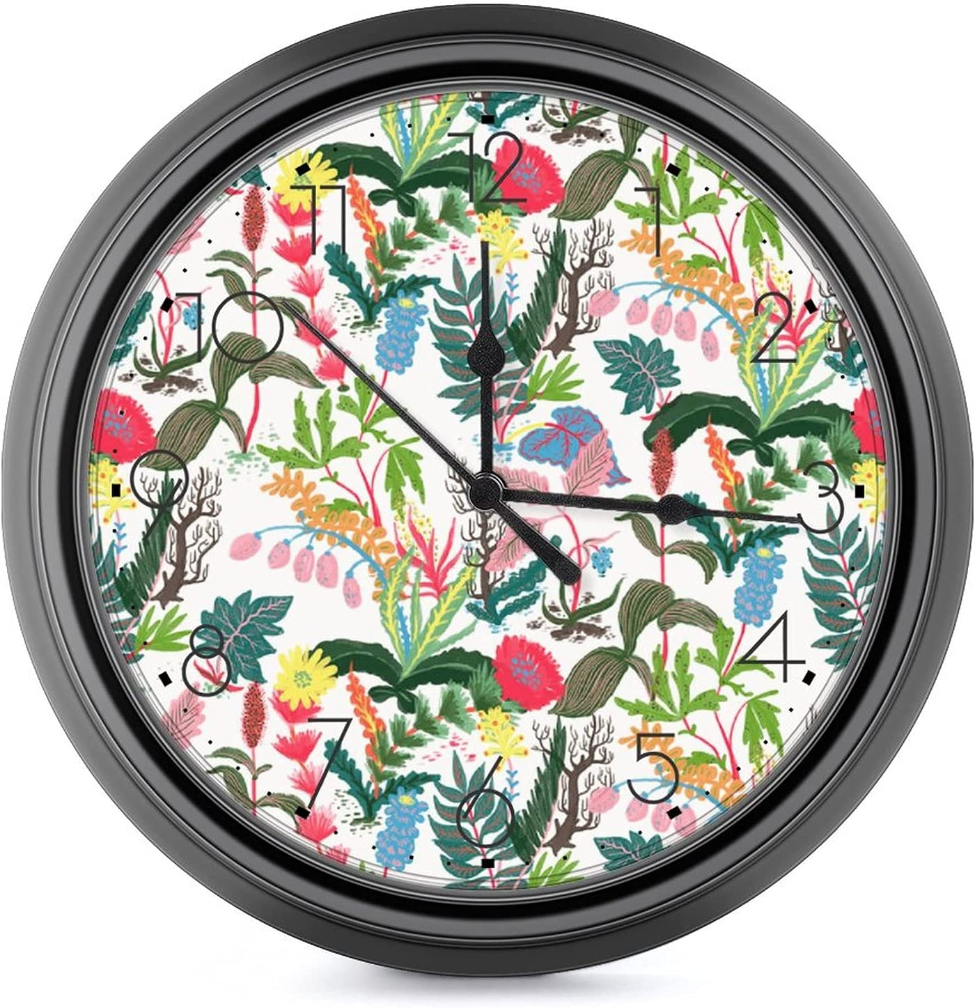 Tropical Flower Recommended Print 10 inch and tick-F Clock-Silent Wall Large Louisville-Jefferson County Mall