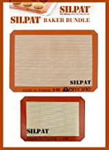 "Silpat Bakers Bundle (US Half Size 11-5/8"" x 16-1/2"" Silicone Baking Mat & 8-1/4"" x 11-3/4"" Jelly Roll)"