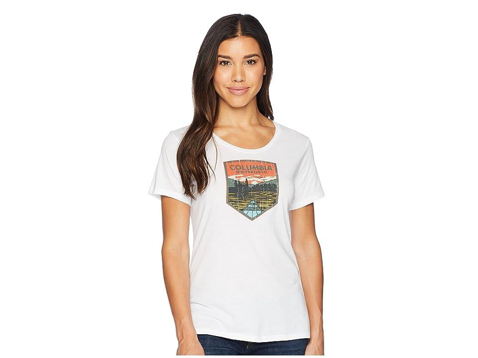c61a53da50b Columbia Columbia Badge Tee (White) Women's T Shirt