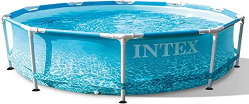 wholesale Intex sale 28206EH 10 Feet x 30 Inch Rust Resistant Steel Metal Frame Outdoor Backyard Above Ground Circular Beachside Swimming Pool online with Reinforced Sidewalls online