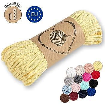 Amazinggirl Hilo Macrame 5 mm trapillo bobinas - Cuerda Algodon Cordon para Trenzado Tejer a Crochet Manualidades Amarillo: Amazon.es: Hogar
