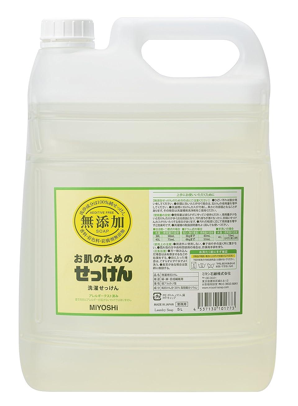 事務所征服するたっぷり無添加 お肌のための洗濯用液体せっけん 5L