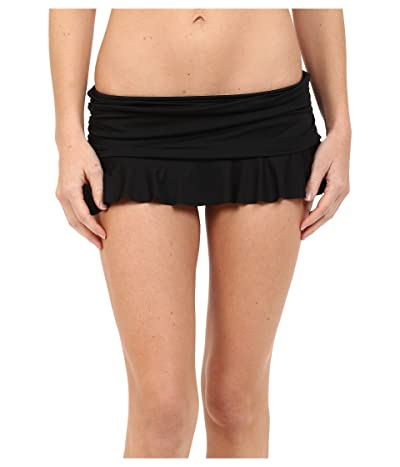 La Blanca Island Goddess Ruffle Skirted Hipster (Black) Women