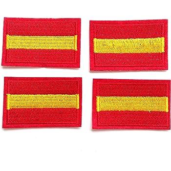 4 pcs Parches bordados España,termoadhesiovs (HC Enterprise-d04): Amazon.es: Hogar