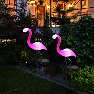 WILSEA Solar Powered Flamingo Lawn Lamp Garden Decor Solar Lights Waterproof Led Light for Christmas Indoor/Outdoor Decora...