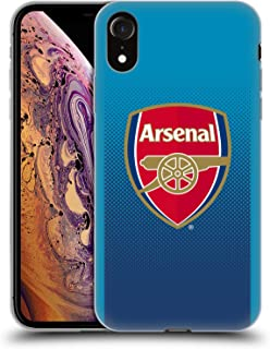 Official Arsenal FC Away 2017/18 Crest Kit Soft Gel Case Compatible for iPhone XR