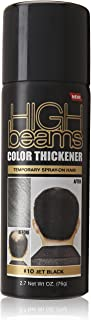 high beams Color Thickener, Jet Black, 2.7 Ounce