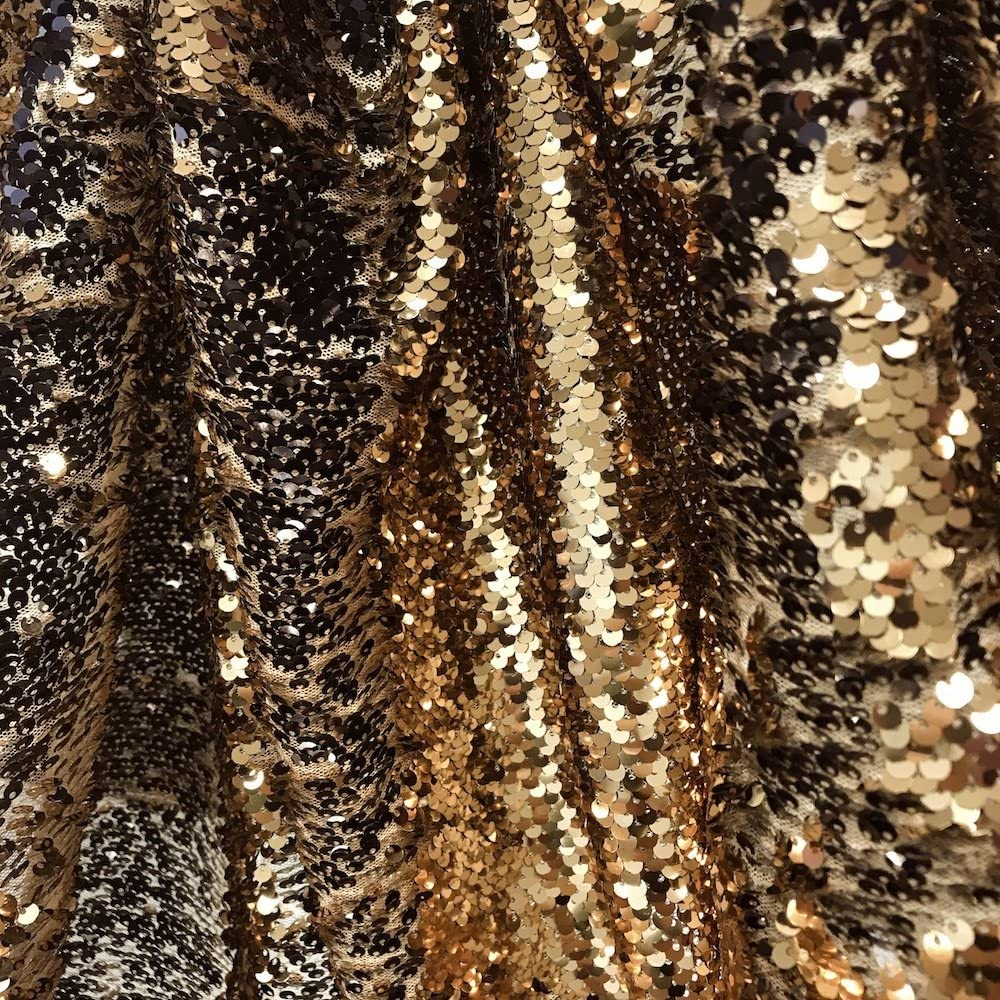 Amazon.com Two Sided Reversible Sequins Fabric on Stretch Mesh 20 ...