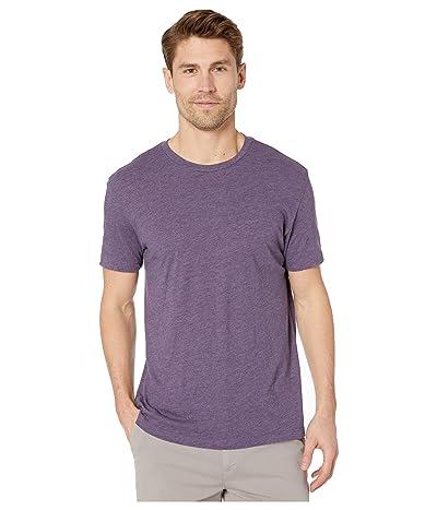 RVCA Solo Label Short Sleeve T-Shirt (Deep Purple) Men