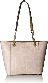 Calvin Klein womens Calvin Klein Hayden Signature East/West Top Zip Chain Tote