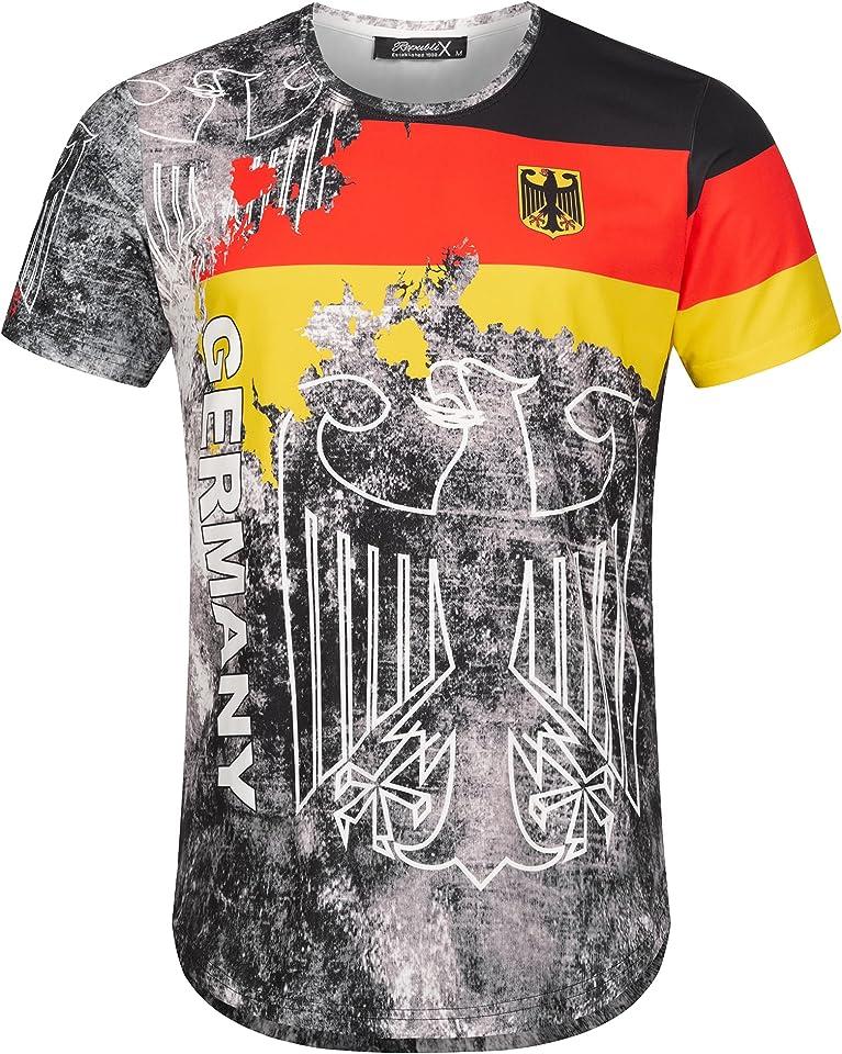 Länder Em WM Oversize Herren Crew Neck Shirt Sommer T-Shirt Rundhals-Ausschnitt R-0048