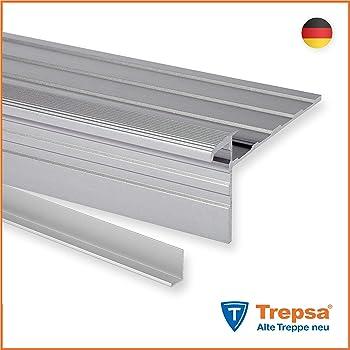 Trepsa Treppenkantenprofil Trepsa Clip Aluminium eloxiert 1200 mm Farbe Silber